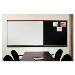 Connectables Modular Dry-Erase Board, Porcelain/Steel, 72 x 48, White, Mahogany