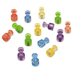 "Quartet Magnetic ""Push Pins"", 3/4"" dia, Assorted Colors, 20/Pack"