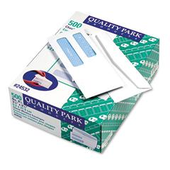2-Window Security Tinted Check Envelope, #8 5/8, 3 5/8 x 8 5/8, White, 500/Box