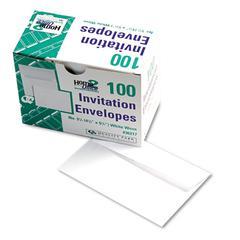 Quality Park Greeting Card/Invitation Envelope, #5 1/2, White, 100/Box