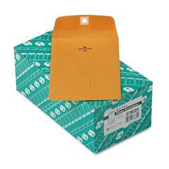 Quality Park Clasp Envelope, 5 x 7 1/2, 28lb, Brown Kraft, 100/Box