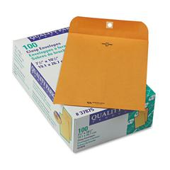 Quality Park Clasp Envelope, 7 1/2 x 10 1/2, 28lb, Brown Kraft, 100/Box