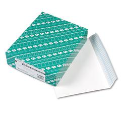 Redi Strip Open Side Booklet Envelope, 12 x 9, White, 100/Box