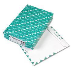 Quality Park Redi-Seal Catalog Envelope, Air Mail, Side Seam, 10 x 13, White, 100/Box