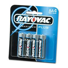 High Energy Premium Alkaline Battery, AA, 4/Pack