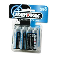 High Energy Premium Alkaline Battery, AA, 8/Pack