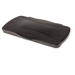 Rubbermaid Commercial Hinged Lid for Vented Slim Jim, 20 3/8 x 11 3/8 x 2 3/4, Black