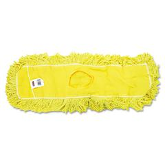 """Trapper Commercial Dust Mop, Looped-end Launderable, 5"""" x 24"""", Yellow"""