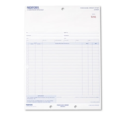 Rediform Purchase Order, 8 1/2 x 11, Three-Part Carbonless, 50 Forms