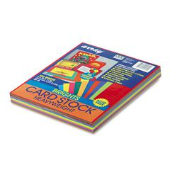 Pacon Array Card Stock, 65 lb., Letter, Assorted Bright Colors, 100 Sheets/Pack