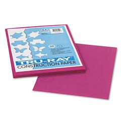 Tru-Ray Construction Paper, 76 lbs., 9 x 12, Magenta, 50 Sheets/Pack