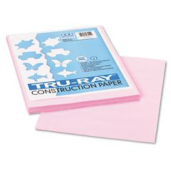 Tru-Ray Construction Paper, 76 lbs., 9 x 12, Pink, 50 Sheets/Pack
