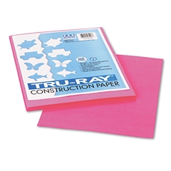 Pacon Tru-Ray Construction Paper, 76 lbs., 9 x 12, Shocking Pink, 50 Sheets/Pack