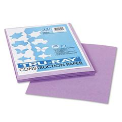 Tru-Ray Construction Paper, 76 lbs., 9 x 12, Lilac, 50 Sheets/Pack