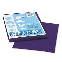 Tru-Ray Construction Paper, 76 lbs., 9 x 12, Purple, 50 Sheets/Pack