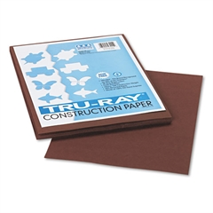 Tru-Ray Construction Paper, 76 lbs., 9 x 12, Dark Brown, 50 Sheets/Pack