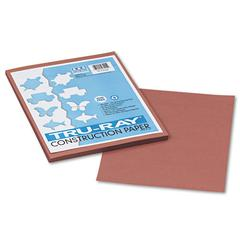 Pacon Tru-Ray Construction Paper, 76 lbs., 9 x 12, Warm Brown, 50 Sheets/Pack