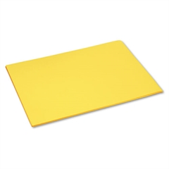 Tru-Ray Construction Paper, 76 lbs., 18 x 24, Yellow, 50 Sheets/Pack