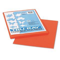 Tru-Ray Construction Paper, 76 lbs., 9 x 12, Pumpkin, 50 Sheets/Pack