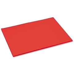 Tru-Ray Construction Paper, 76 lbs., 18 x 24, Festive Red, 50 Sheets/Pack