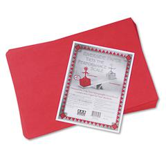 Riverside Construction Paper, 76 lbs., 12 x 18, Holiday Red, 50 Sheets/Pack