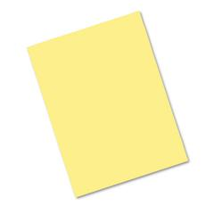 Riverside Construction Paper, 76 lbs., 18 x 24, Yellow, 50 Sheets/Pack