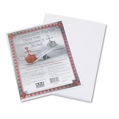 Pacon Riverside Construction Paper, 76 lbs., 9 x 12, White, 50 Sheets/Pack
