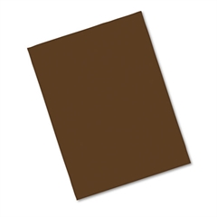 Riverside Construction Paper, 76 lbs., 9 x 12, Dark Brown, 50 Sheets/Pack