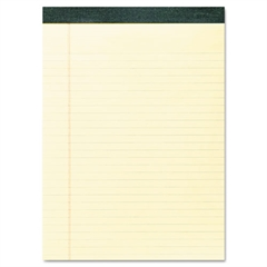 Recycled Legal Pad, 8 1/2 x 11 Sheets, 40/Pad, Canary, Dozen