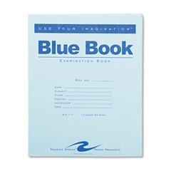 Exam Blue Book, Legal Rule, 8 1/2 x 7, White, 12 Sheets/24 Pages