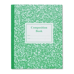 Grade School Ruled Composition Book, 9 3/4 x 7 3/4, Green Cover, 50 Pages