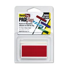 Redi-Tag Removable/Reusable Page Flags, Red, 300/Pack