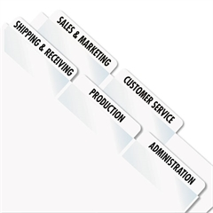 Redi-Tag Laser Printable Index Tabs, 2 x 7/8, White, 80/Pack