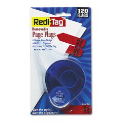 """Redi-Tag Arrow Message Page Flags in Dispenser, """"Sign Here"""", Red, 120/Dispenser"""