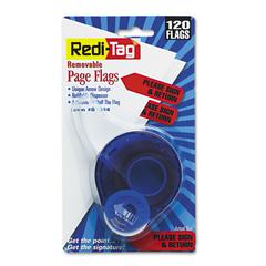 "Redi-Tag Arrow Message Page Flags in Dispenser, ""Please Sign and Return"", Red, 120 Flags"
