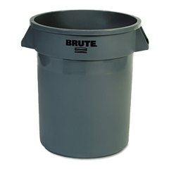 Rubbermaid Commercial Round Brute Container, Plastic, 20 gal, Gray