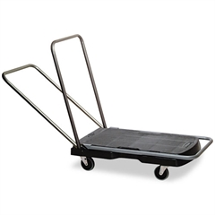 "Rubbermaid Commercial Utility-Duty Home/Office Cart, 250 lb Capacity, 20 1/2"" x 32 1/2"" Platform, BK"