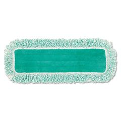 "Rubbermaid Commercial Dust Pad w/Fringe, Microfiber, 18"" Long, Green"