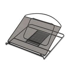Safco Onyx Adjustable Steel Mesh Laptop Stand, 12 1/4 x 12 1/4 x 1, Black