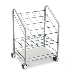 Safco Wire Roll/File, 20 Compartments, 18w x 12-3/4d x 24-1/2h, Gray