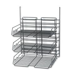 Panelmate Triple-Tray Organizer, 13 1/2 x 17 1/4, Charcoal Gray
