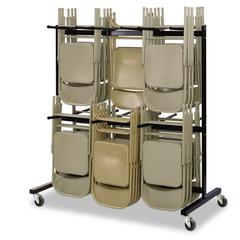 Safco Two-Tier Chair Cart, 64-1/2w x 33-1/2d x 70-1/4h, Black