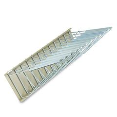 Safco Sheet File Pivot Wall Rack, 12 Hanging Clamps, 24w x 14 3/4d x 9 3/4h, Sand