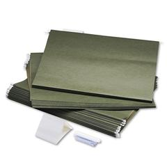 Safco Hanging File Folders, Compressed Paper Fiber, 18 x 14, Green, 25/Box
