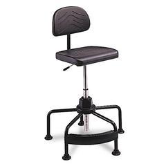 Safco TaskMaster Series EconoMahogany Industrial Chair, Black