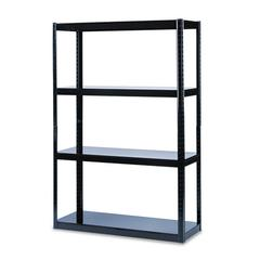 Safco Boltless Steel Shelving, Five-Shelf, 48w x 18d x 72h, Black