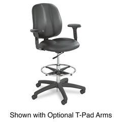 Apprentice II Extended Height Chair, Black Vinyl