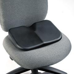 Safco Softspot Seat Cushion, 15-1/2w x 10d x 3h, Black