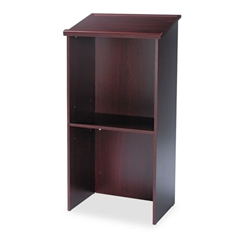 Safco Stand-Up Lectern, 23w x 15-3/4d x 46h, Mahogany