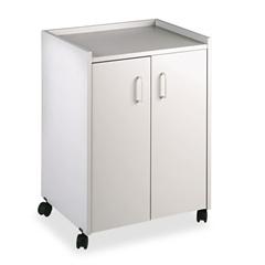 Safco Mobile Refreshment Center Cart, One-Shelf, 23w x 18d x 31h, Gray